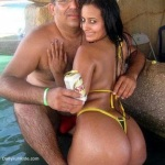 Hot Big Booty Indian Girl With Old Man In Swimming Pool